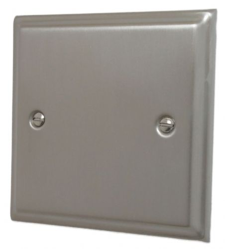 G&H DSN31 Deco Plate Satin Nickel 1 Gang Single Blank Plate